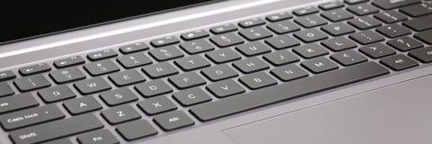 Клавиши на клавиатуре компьтер-книжки Стоковые Фото