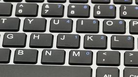 Клавиши на клавиатуре 4k макроса ноутбука сток-видео