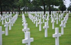 Кладбище американца Нормандии Стоковая Фотография