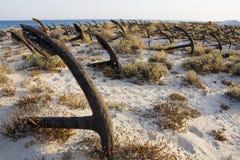 кладбище анкера Стоковое Изображение RF