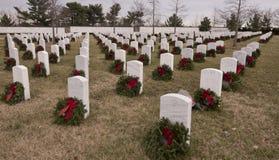 Кладбище Арлингтон национальное на рождестве стоковое изображение rf