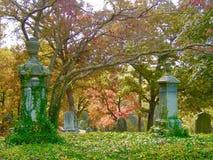 Кладбище берега реки, Asheville, падение стоковая фотография rf