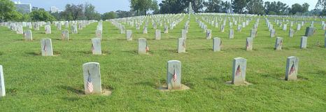 Кладбище ветеранов национальное Стоковые Фотографии RF