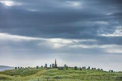Кладбище в песчанных дюнах на острове северного Uist, наружном Hebrides, Шотландии стоковое фото rf