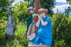 Кладбище в Chortkiv Стоковые Фото