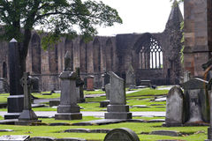 кладбище историческая Шотландия Стоковая Фотография