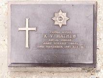 Кладбище мировой войны, Kohima, Nagaland, северо-восточная Индия стоковое фото
