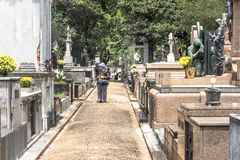 Кладбище Consolacao стоковое изображение rf