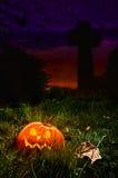 кладбище halloween Стоковые Изображения
