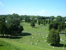 кладбище illinois стоковые изображения