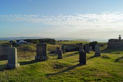 Кладбище Kilmuir, могила ` s MacDonald флоры стоковые фотографии rf