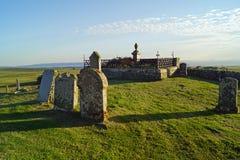 Кладбище Kilmuir, могила ` s MacDonald флоры стоковые изображения
