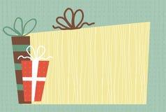 кладет вектор в коробку подарка Стоковые Фотографии RF