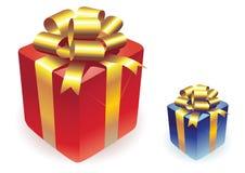 кладет вектор в коробку подарков Стоковые Изображения RF