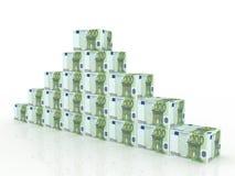 кладет ворох в коробку евро иллюстрация вектора