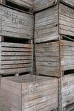 кладет деревянное в коробку Стоковое Фото