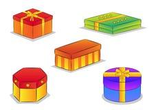 кладет иллюстрации в коробку подарка Стоковое Фото