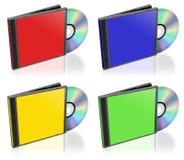 кладет компактный диск в коробку родовой Стоковое Изображение