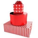 кладет комплект в коробку подарка счастливый Бесплатная Иллюстрация