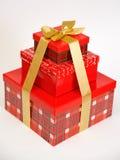 кладет красный цвет в коробку 3 Стоковая Фотография RF