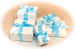кладет милую белизну в коробку подарка Стоковая Фотография RF
