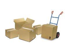 кладет поставку в коробку Стоковое Изображение RF