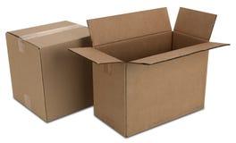 кладет путь в коробку картона Стоковые Изображения RF