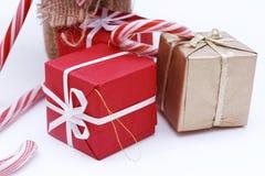 кладет рождество в коробку 3 Стоковые Изображения