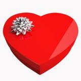 кладет сердце в коробку подарка иллюстрация штока