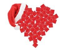 кладет сердце в коробку подарка Стоковые Изображения RF