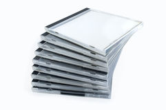кладет стог в коробку дисков стоковое изображение rf