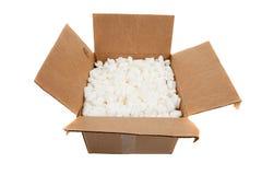 кладет утлые moving стикеры в коробку Стоковое Изображение RF