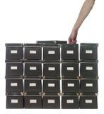 кладет хранение в коробку Стоковые Фото