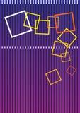 кладет цветастый квадрат в коробку Стоковое Изображение RF