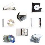 кладет cd собрание в коробку Стоковые Изображения RF