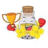 Кладя в коробку масло семени победителя канола на мультфильме бесплатная иллюстрация