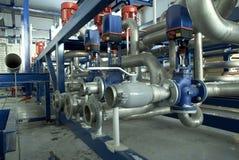 клапаны силы завода труб Стоковое Изображение
