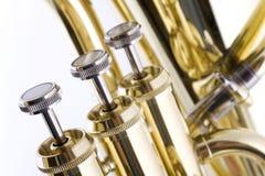 клапаны euphonium стоковое изображение
