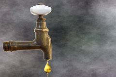Клапан воды сбора винограда сделал бронзу ââof Стоковые Изображения RF