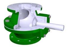 клапан иллюстрации шарика Стоковое Изображение RF
