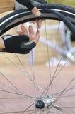 клапан пробки ремонта детали bike Стоковое фото RF
