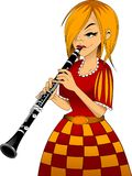 кларнет иллюстрация штока