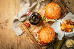 классика бургера говядины Стоковые Фото