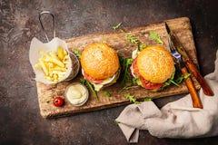 классика бургера говядины Стоковые Фотографии RF