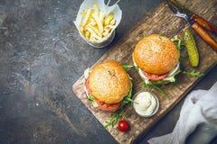 классика бургера говядины Стоковая Фотография RF