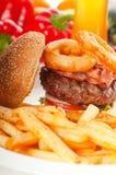 классика жарит сандвич гамбургера Стоковые Изображения