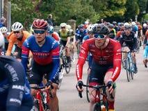 Классика 2019 Rutland-Melton Cicle: Двойной победитель Ed Clancy и 2018 медалиста олимпийского золота Габриэль Cullaigh стоковые изображения rf