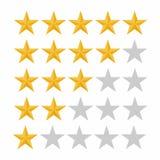Классифицируя звезда 5 Обзор клиента, оценка, качество и ровная концепция иллюстрация вектора