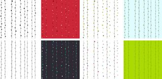 Классицистическая безшовная картина с линиями и многоточиями Стоковая Фотография RF