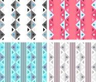 Классицистическая безшовная картина с треугольниками и линиями Стоковые Изображения RF